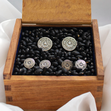Load image into Gallery viewer, Texas State Seal Stud & Cuff Link Set - Sterling Silver