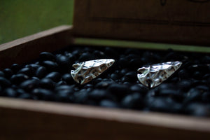 Arrowhead Cuff Links - Sterling Silver
