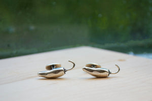 Chili Pepper Cuff Links - Sterling Silver