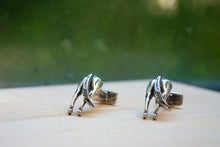 Load image into Gallery viewer, Horses Rear Cuff Links - Sterling Silver