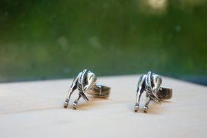 Horses Rear Cuff Links - Sterling Silver