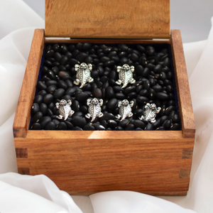 Horned Frog Stud & Cuff Link Set - Sterling Silver