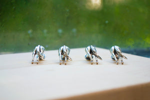Horses Rear Stud & Cuff Link Set - Sterling Silver