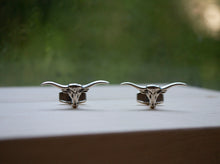 Load image into Gallery viewer, Longhorn Stud & Cuff Link Set - Sterling Silver