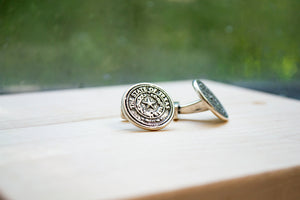 Texas State Seal Cuff Links - Sterling Silver