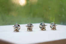 Load image into Gallery viewer, Star Stud & Cuff Link Set - Sterling Silver