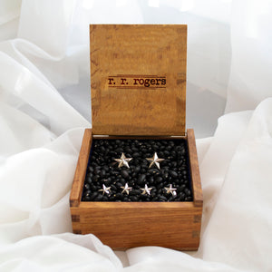 Star Stud & Cuff Link Set - Sterling Silver