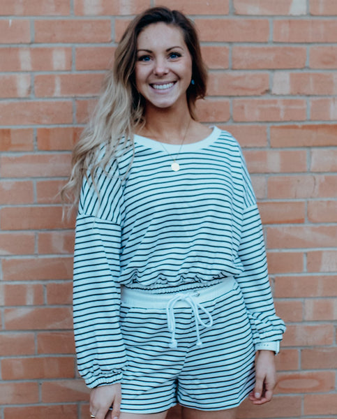 Aly Striped Scoop Neck Pullover