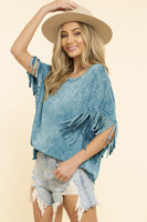 Reba Fringed Sleeve Western Top