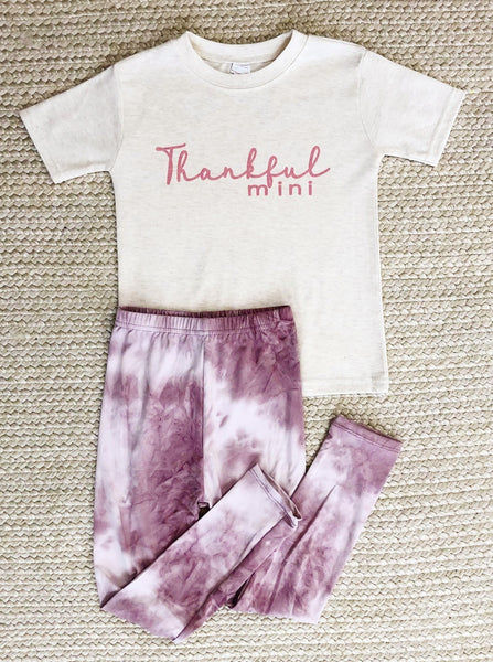 YOUTH - Mauve Tie-Dye Leggings