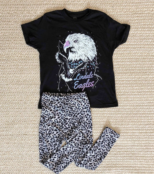 YOUTH - Gray Leopard Leggings
