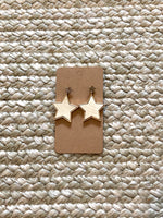 Cream Star Earrings