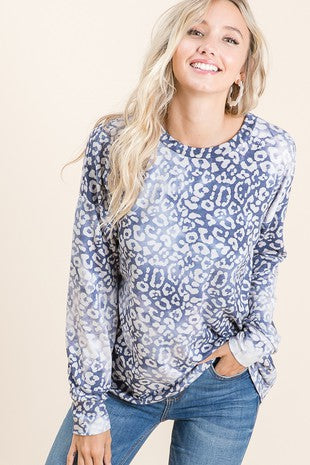 Long Sleeve Leopard Tunic