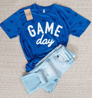 Royal Blue Star Game Day Tee