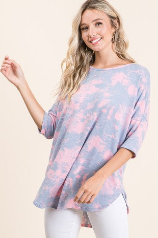 Short Sleeve Cotton Candy Tunic