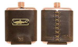 Sight Line Provisions & Whiskey Leatherworks Copper Flask - Lost Cast Edition