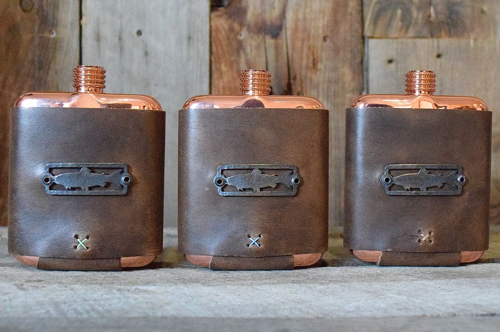 Sight Line Provisions & Whiskey Leatherworks Copper Flask