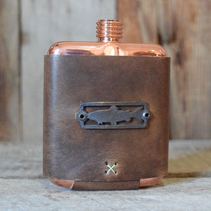 Sight Line Provisions & Whiskey Leatherworks Flask
