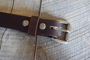 Dark Brown Bridle & Antique Nickel Roller Buckle
