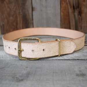 Rough-Out Veg Tan & Rustic Bronze Buckle