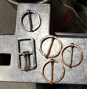 Rustic Stainless Steel Circle Buckle Belts