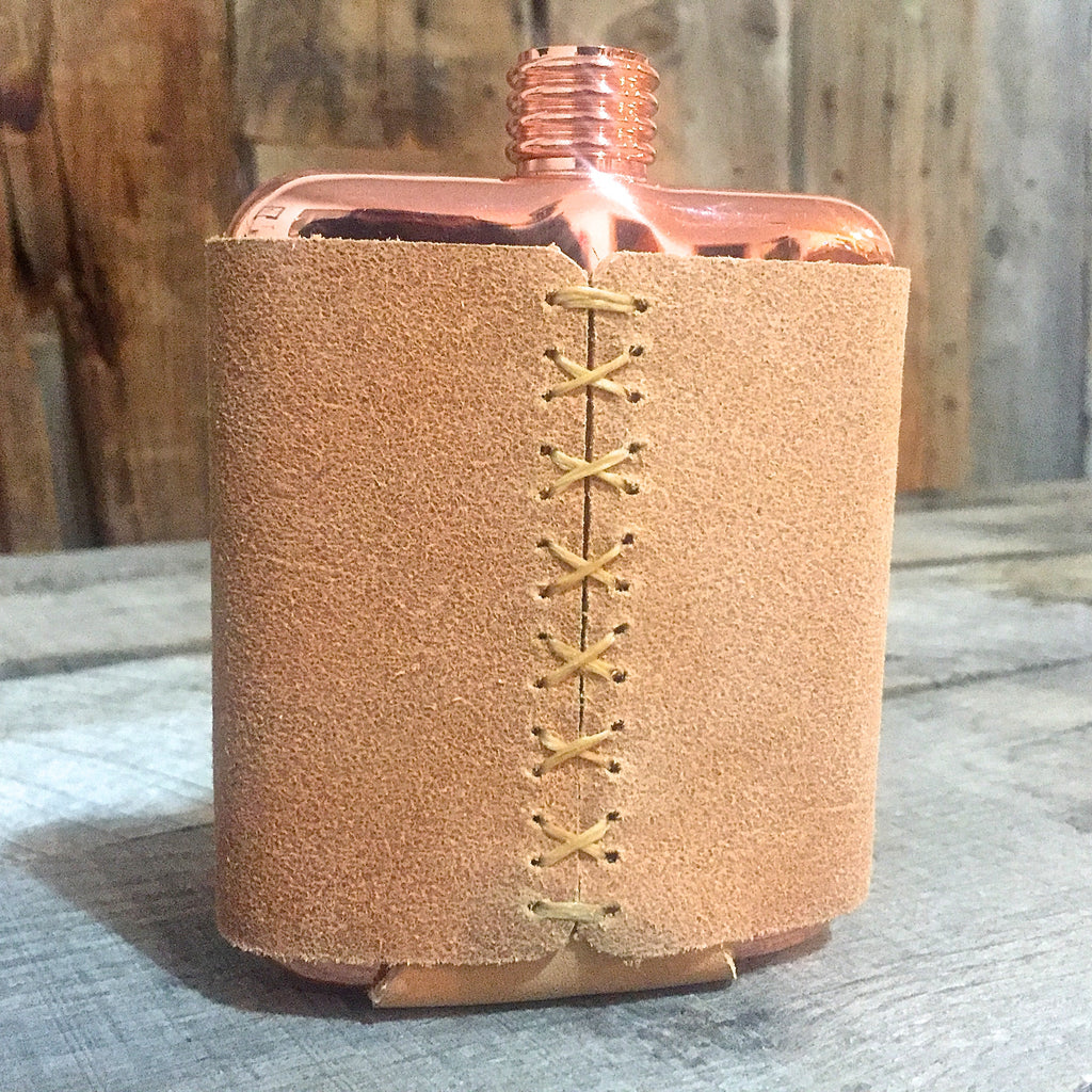 Rough-Out Clark Fork Copper Flask