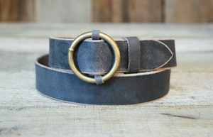 Antique Brass Circle Buckle Belts