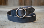 Antique Nickel Circle Buckle Belts