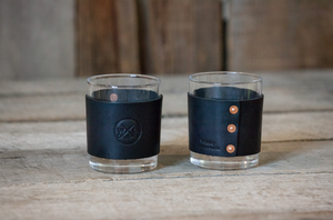 Fly Stamped Rocks Glass- Set of Two