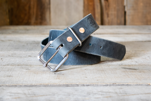 Rustic Stainless Steel  & Indigo Buffalo *Best Seller*