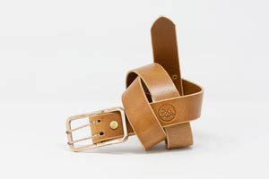 Double Tongue Bronze Buckle Belts