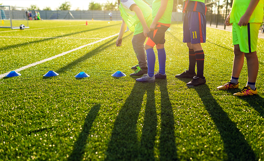 Fundraising with children playing soccer