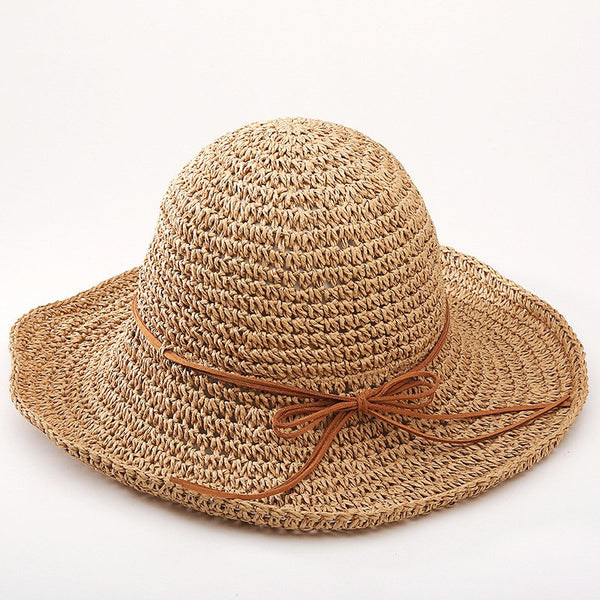 Straw folding wide Brim Sun Hat - PAYMUK