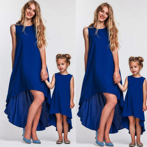 Mother Daughter Blue Dress O8 - PAYMUK