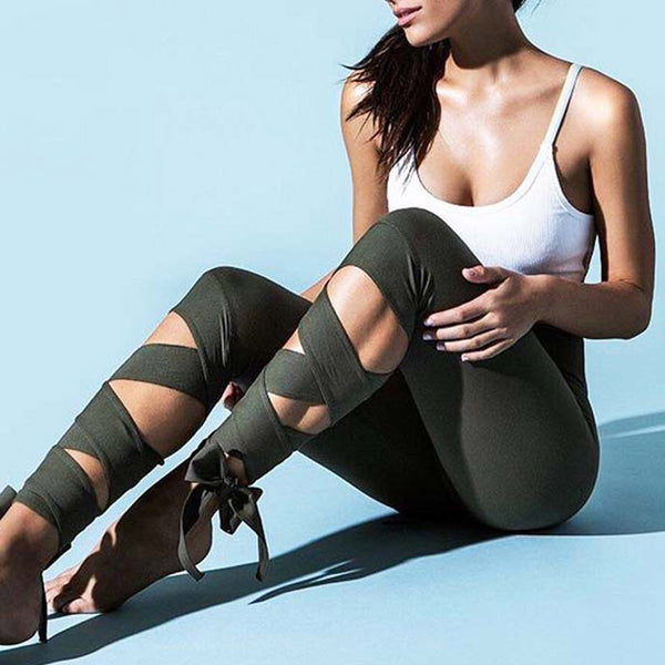 Sport Leggings Bandage Cross - PAYMUK