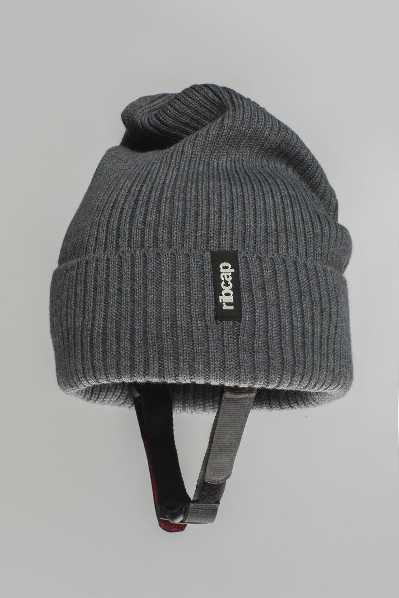 Lenny Beanie helmet hat in grey by Ribcap