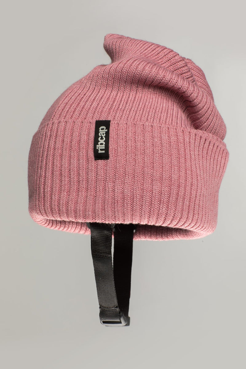 Lenny Beanie helmet hat in rose by Ribcap