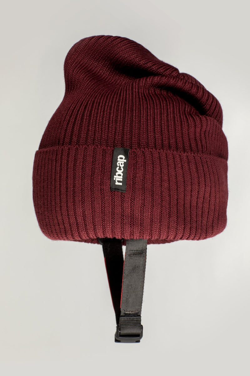 Lenny Beanie helmet hat in Bordeaux by Ribcap