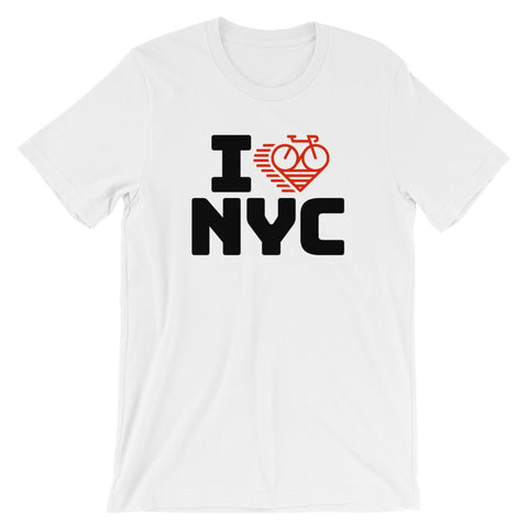 I LOVE CYCLING NEW YORK CITY - Short-Sleeve Unisex T-Shirt