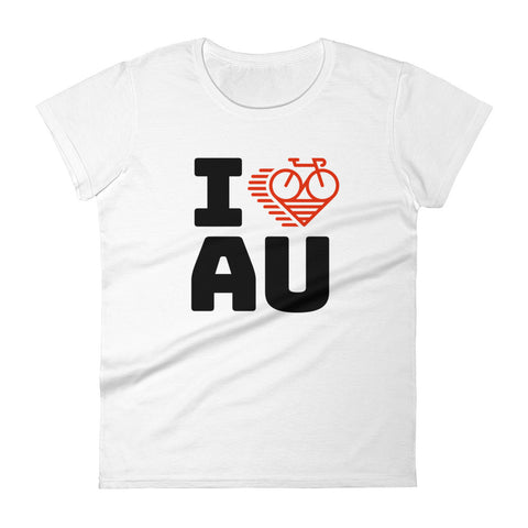 I LOVE CYCLING AUSTRALIA - Women's short sleeve t-shirt