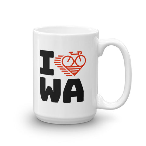 I LOVE CYCLING WASHINGTON - Mug