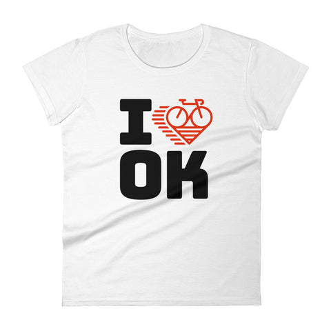I LOVE CYCLING OKLAHOMA - Women's short sleeve t-shirt