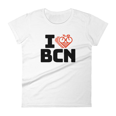 I LOVE CYCLING BARCELONA - Women's short sleeve t-shirt