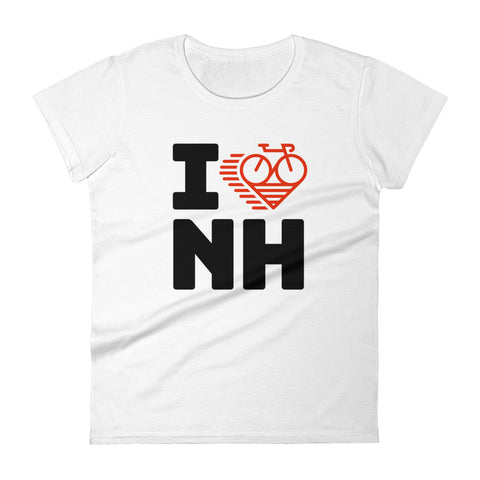 I LOVE CYCLING NEW HAMPSHIRE - Women's short sleeve t-shirt