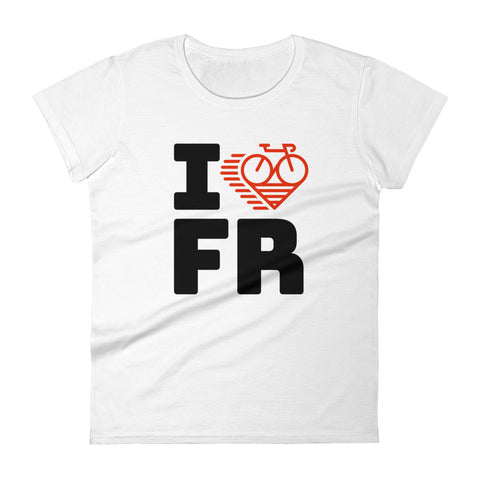 I LOVE CYCLING FRANCE - Women's short sleeve t-shirt
