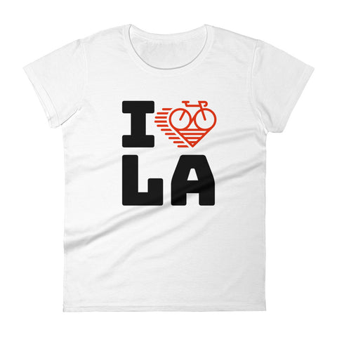 I LOVE CYCLING LOS ANGELES - Women's short sleeve t-shirt