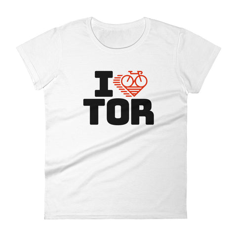 I LOVE CYCLING TORONTO - Women's short sleeve t-shirt