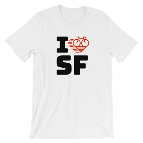 I LOVE CYCLING SAN FRANCISCO - Short-Sleeve Unisex T-Shirt