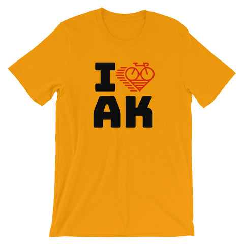 I LOVE CYCLING ALASKA - Short-Sleeve Unisex T-Shirt