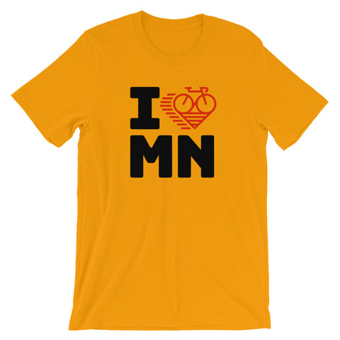 I LOVE CYCLING MINNESOTA - Short-Sleeve Unisex T-Shirt